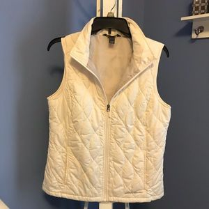 Eddie Bauer poly-down vest - off white - medium